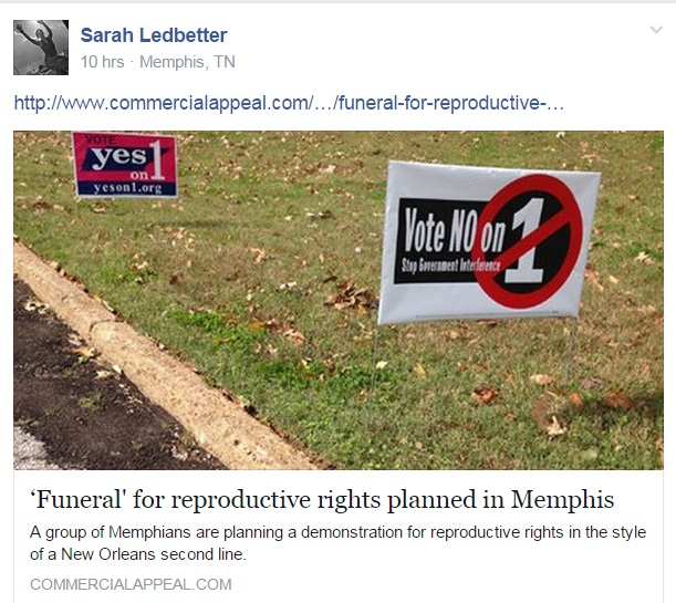Funeral Memphis abortion article