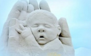 Sanctity of life motivated sand sculpture artist