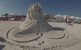 Amazing sand sculpture captures the Miracle of Life