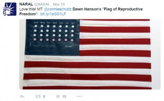 "Abortion Supporters Tweet ""Flag of Reproductive Freedom"""