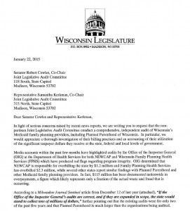 PPWI request for Planned Parenthood audit