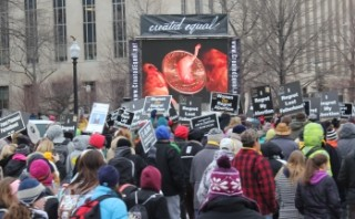 Abortion images of preborn victims to play on JumboTV at pro-life march