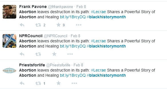 Black History Month abortion tweets 3