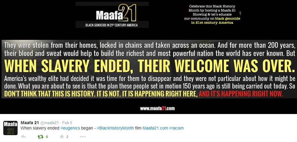 Maafa21 Black History Month slavery ended