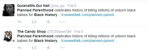 Planned Parenthood and Black History Month tweets6