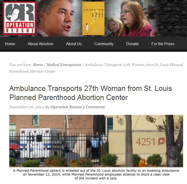 St Louis Planned Parenthood ambulance