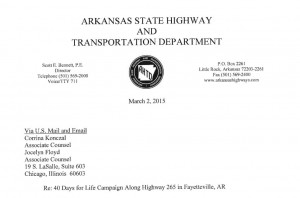 ARK Highway responds to prolife