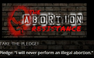 "Pledge: ""I will never perform an illegal abortion"""