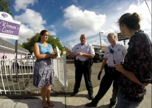 Prolifers call police Tampa Womens Abortion clinic