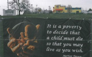 No criminal charges for church which displayed pro-life signs on private property