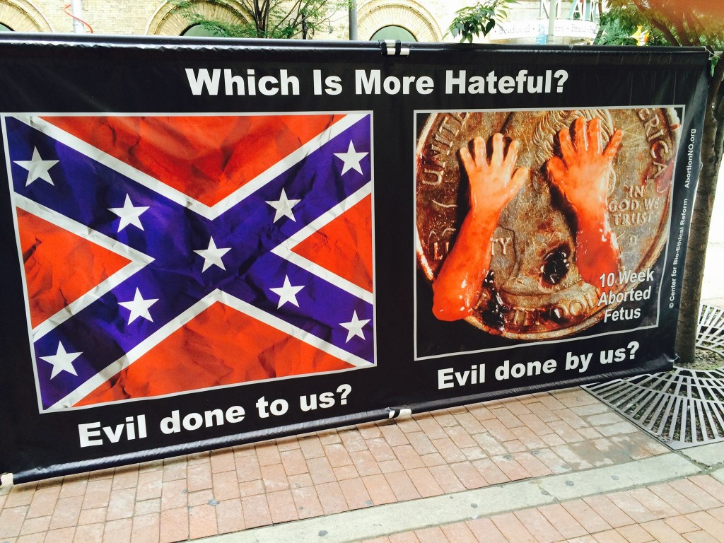 Black prolife confederate flag 04675926557557_5867172324804053705_o