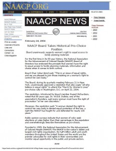 NAACP Prochoice statement