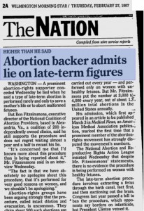 Ron Fitzsimmons lies through teeth partial birth abortion 3